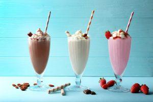 3 flavors of milkshakes