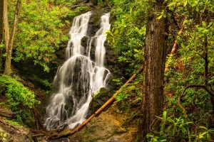 cataract falls in the smoky mountains