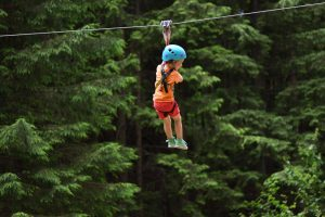little kid ziplining