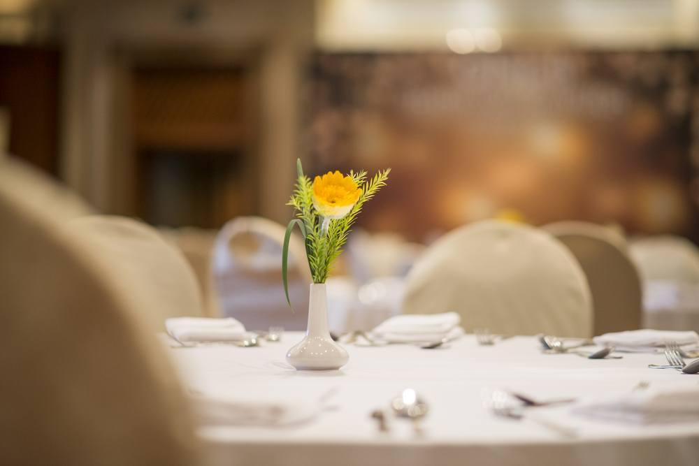 flower in vase on table